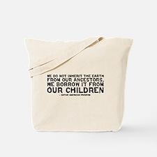 Quote - Native American - Children Tote Bag