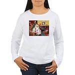 Santa's Eskimo Spitz Women's Long Sleeve T-Shirt
