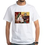 Santa's Eskimo Spitz White T-Shirt