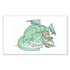 Baby Dragon Rectangle Decal