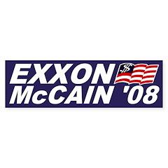 Exxon-McCain '08 Bumper Bumper Sticker
