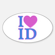 I Love ID Oval Decal