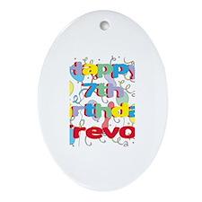 Trevor's 7th Birthday Oval Ornament