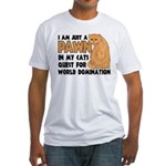Cat's World Domination Fitted T-Shirt