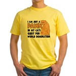 Cat's World Domination Yellow T-Shirt