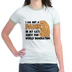 Cat's World Domination Jr. Ringer T-Shirt