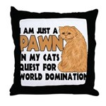 Cat's World Domination Throw Pillow