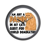 Cat's World Domination Wall Clock