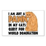 Cat's World Domination Rectangle Sticker