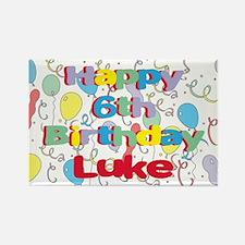 Luke's 6th Birthday Rectangle Magnet