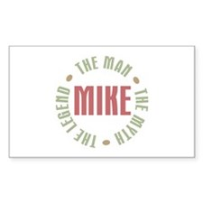 Mike Man Myth Legend Rectangle Decal