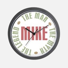 Mike Man Myth Legend Wall Clock