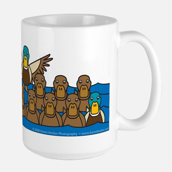 Toller in Ducks Large Mug