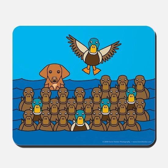 Toller in Ducks Mousepad
