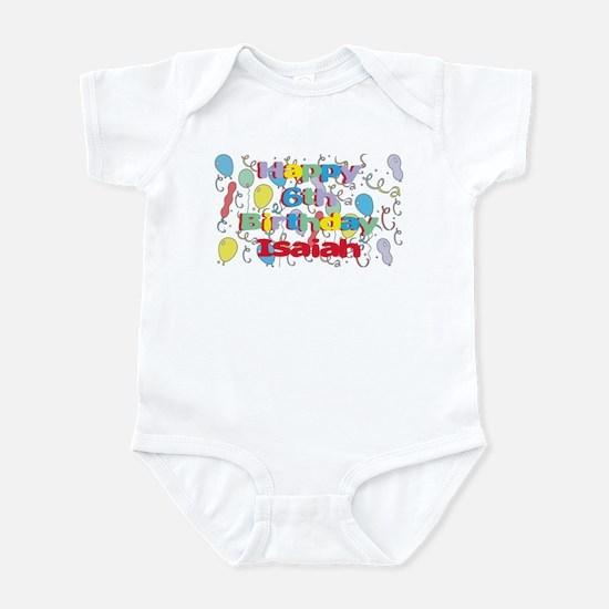 Isaiah's 6th Birthday Infant Bodysuit