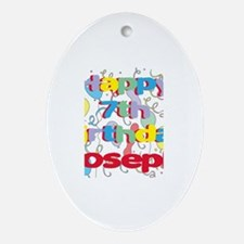 Joseph's 7th Birthday Oval Ornament