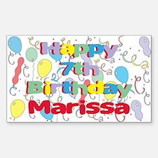Marissa's 7th Birthday Rectangle Decal