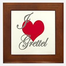 I love (heart) Grettel Framed Tile