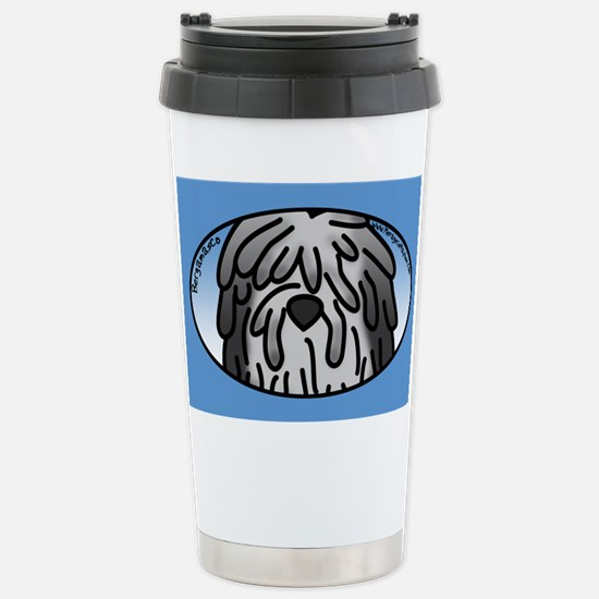 Anime Grey Bergamasco Stainless Steel Travel Mug
