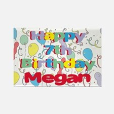 Megan's 7th Birthday Rectangle Magnet