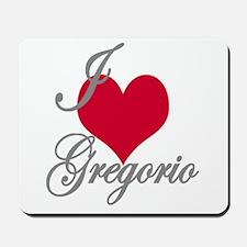 I love (heart) Gregorio Mousepad