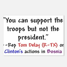 Tom Delay Quote on Clintons B Postcards (Package o