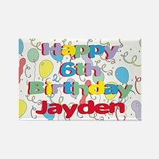 Jayden's 6th Birthday Rectangle Magnet