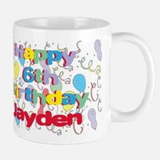 Jayden's 6th Birthday Mug