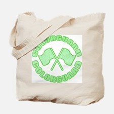 Vintage Colorguard Green Tote Bag