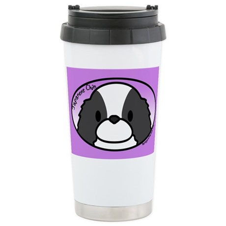 Anime BW Japanese Chin Stainless Steel Travel Mug