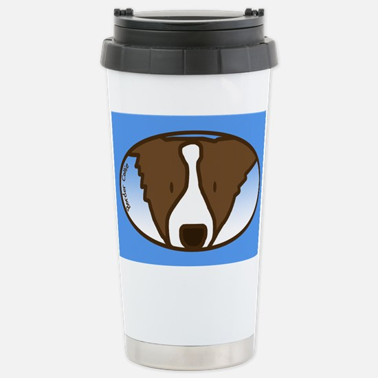 Anime Brown Border Collie Stainless Steel Travel M