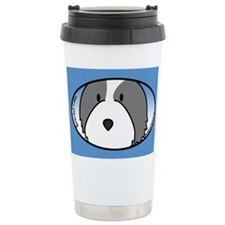 Anime Bearded Collie Travel Mug