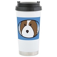 Anime Fawn Bearded Collie Travel Mug