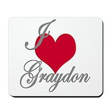 I love (heart) Graydon Mousepad