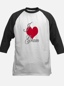 I love (heart) Gram Kids Baseball Jersey