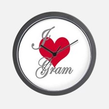 I love (heart) Gram Wall Clock