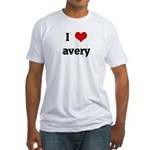 I Love avery Fitted T-Shirt