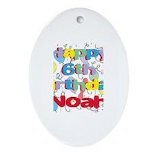 Noah's 6th Birthday Oval Ornament