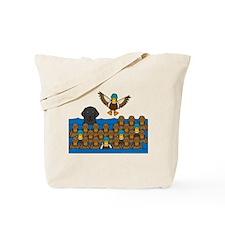 Flat Coat in Ducks Tote Bag