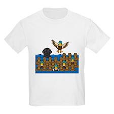 Flat Coat in Ducks T-Shirt