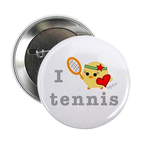 "I Love Tennis 2.25"" Button (10 pack)"
