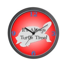 TURTLE TIME Red Wall Clock