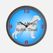 ROTTIE TIME Blue Wall Clock