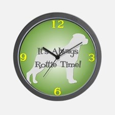 ROTTIE TIME Green Wall Clock