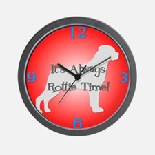 ROTTIE TIME Red Wall Clock