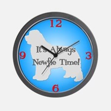 NEWFIE TIME Blue Wall Clock