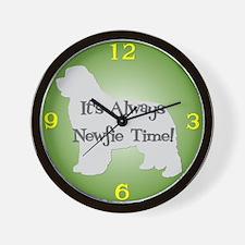 NEWFIE TIME Green Wall Clock