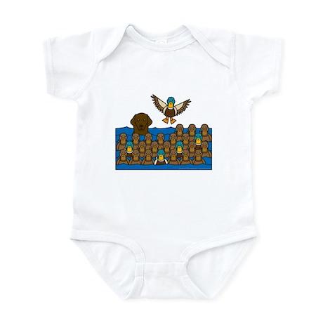 Flat Coat in Ducks Infant Bodysuit