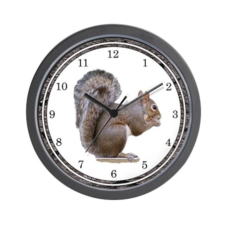 Elegant Squirrel Wall Clock