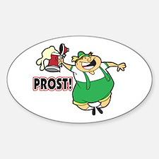 Humorous Oktoberfest Oval Sticker (10 pk)
